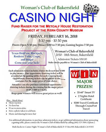 Womans Club Bakersfield - Casino Night