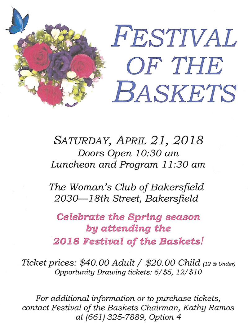 Woman's Club of Bakersfield - Festival of Baskets